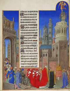 Folio 71 verso. La procesión de San Gregorio.. (c) Wikipedia Commons