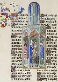 Folio 37 verso. El Bautismo de San Agustín. (c) Wikipedia Commons